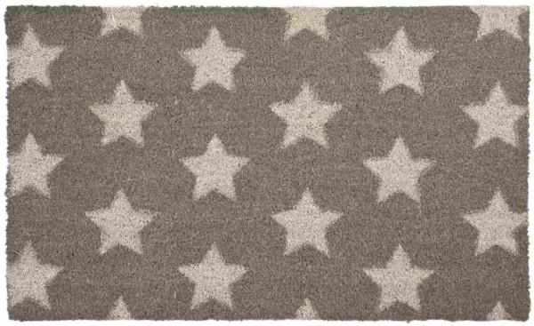 deurmat, sterren, grijs