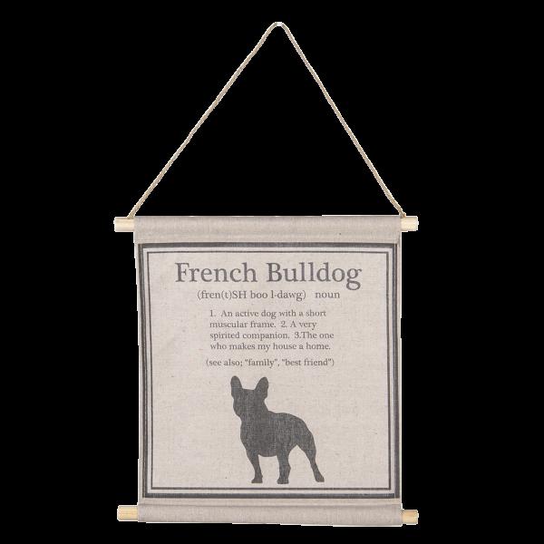 Wandkaart Franse Bulldog