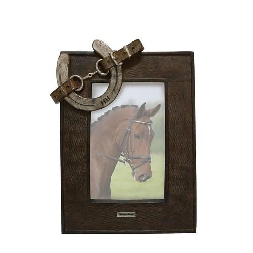 fotolijst paard , met hoefijzer