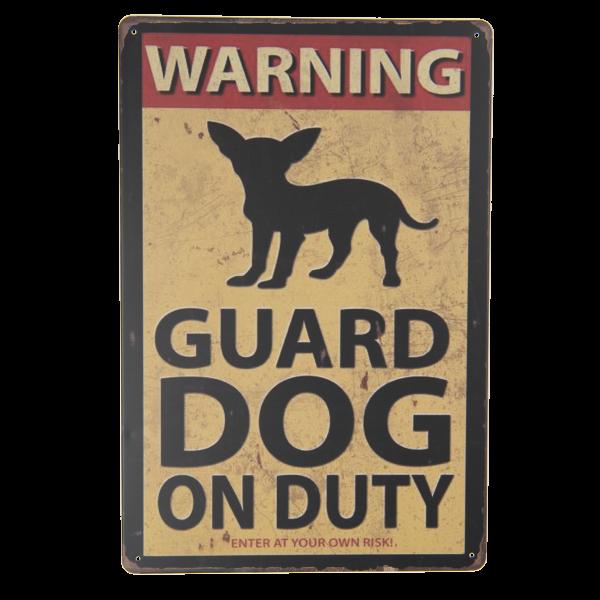 tekstbord guard dog