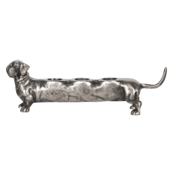 Waxinelichthouder hond, teckel
