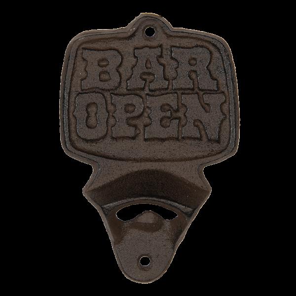 Flessenopener bar open