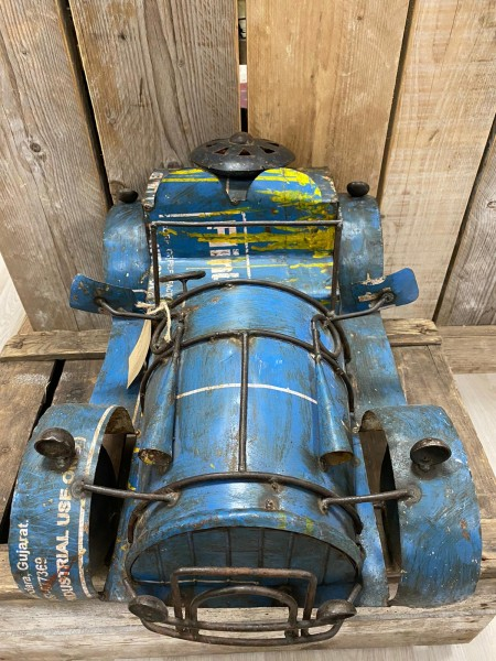 car old iron L, blauw