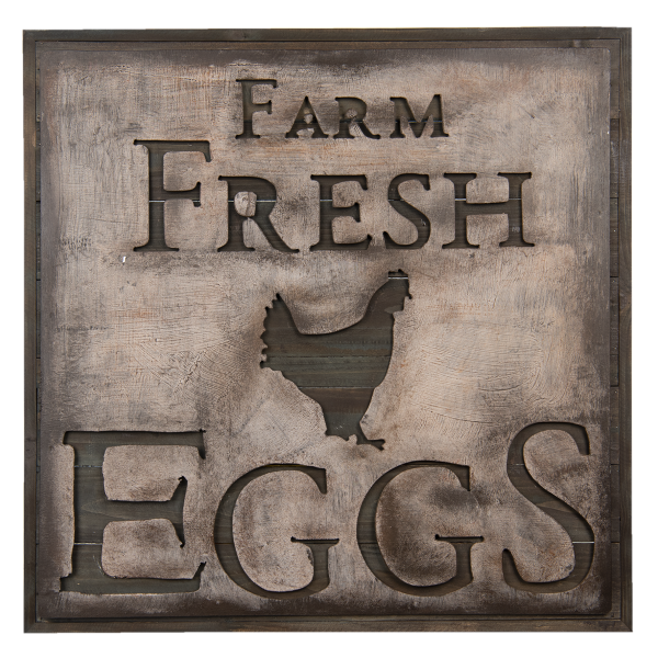 wanddecoratie farm fresh eggs