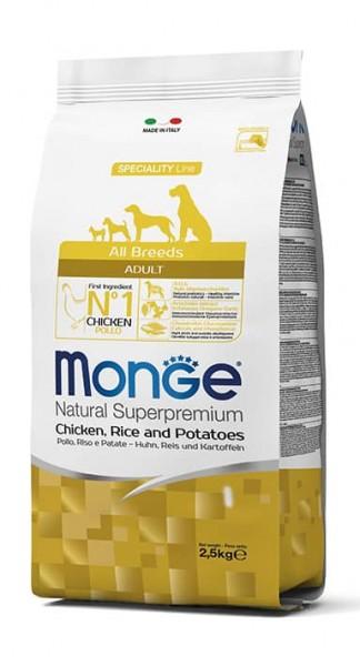 Monge All Breeds Adult Kip, Rijst & Aardappelen