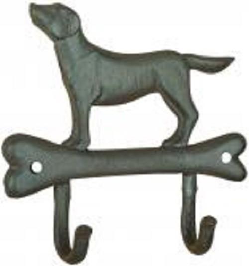 haak hond op bot
