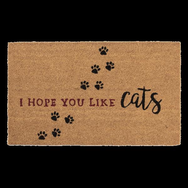 deurmat, i hope you like cats