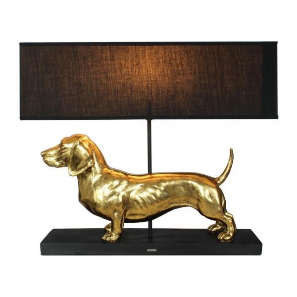 lamp teckel goud