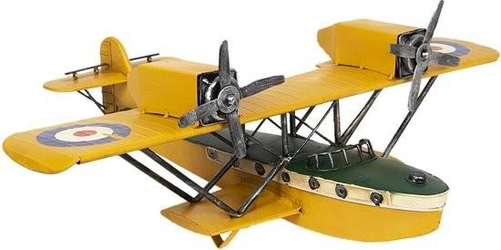 metalen vliegtuig , geel